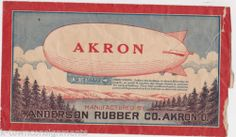Akron Airship Zeppelin Vintage Anderson Rubber Advertising Aviation Balloon Toy | eBay