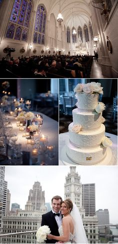 beautiful chicago wedding at the trump + st. james chapel in chicago!