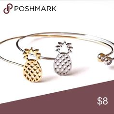 Pineapple Last piece! Very cute! Gold color. For small and medium wrist. Jewelry Bracelets