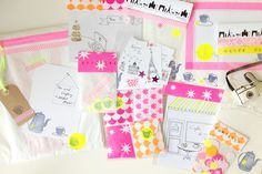 Happy mail project: neon teatime in Paris - mikodesign to Ishtar Olivera.