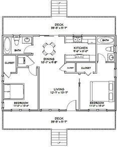 X House -- -Bedroom -Bath -- Sq Ft -- Pdf * x haus - schlafzimmer - bad - sq ft - pdf X House -- -Bedroom -Bath -- Sq Ft -- Pdf * House Plan With Loft, Small House Floor Plans, Cabin Floor Plans, House Plans One Story, Barn House Plans, Cabin Plans With Loft, Little House Plans, 800 Sq Ft House, Plane 2