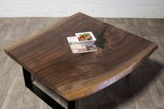 Black Walnut COFFEE TABLE  Natural  Live Edge  by ElpisWorks