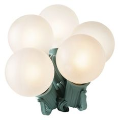 25ct. White Satin G40 Globe String Lights - Green Wire  $8.99