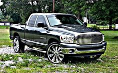 Dodge Ram 1500 2007 26in rims aftermarket everything grill led headlights chrome tinted flomaster ram trucks custom dodge ram dodge ram dodge mofukin ram
