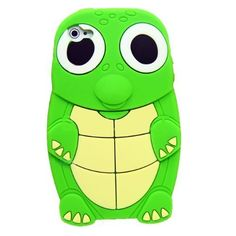Turtle Dinosaur Silicone 3D Case Cover for iPhone 4/4S - Green by thewaddleshop, http://www.amazon.com/dp/B0078JKZ1U/ref=cm_sw_r_pi_dp_2D-orb09Y42HR