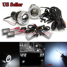 "For vw usa 3"" #projector fog #lights+white led #angel eyes+switch+8000k ac hid ki,  View more on the LINK: 	http://www.zeppy.io/product/gb/2/112109453718/"
