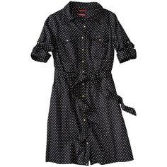 Merona® Women's Belted Polka Dot Shirt Dress - Black/White