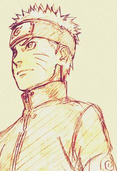 A sketch Kishimoto did of Naruto as an adult for the new movie coming out in December this year.
