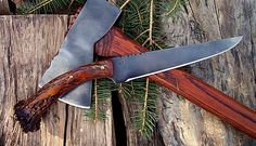 "Stephen Osborne is a Master Bladesmith at the North River Forge.  Period Long Knife with a crown antler grip. 11 3/8"" overall."