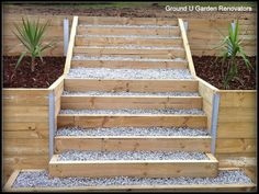 The Retaining Walls Specialist Melbourne- Treated Pine Timber Retaining Wall with Steps. - The Retaining Wall Specialist Melbourne, Landscaping, Warragul, VIC, 3820 - TrueLocal