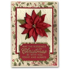 Holiday Card 56 Poinsetta Paper Flower
