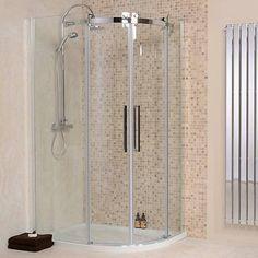 1200 x 800 Aquafloe Elite ll Left Hand Offset Quadrant Enclosure - Better Bathrooms
