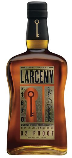 Larceny Kentucky Straight Bourbon Whiskey combines an authentic brand history and intriguing story with outstanding, extra aged wheated Bourbon, making for a very attractive alternative for the more sophisticated American Whiskey consumer. Good Whiskey, Cigars And Whiskey, Scotch Whiskey, Whiskey Sour, Whiskey Glasses, Wheated Bourbon, Bourbon Brands, Bourbon Street, Vodka