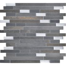 Dal Tile Olympus Slate Parthenon Blend (Gray Slate with Silver glass) OS02