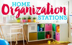 "Creating Home Organization""Stations"" By: by Alicia Hutchinson-- Home organization is all about finding personal systems that work for you and your household.Creating useful ""stations"" is an organizationalstep that can be adapted for any family. http://mollygreen.com/blog/creating-home-organizationstations/"