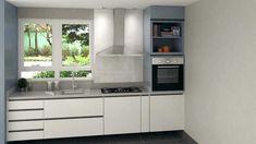 Cooktop + Forno Elétrico Embutido. Trazendo muito mais espaço para armazenar suas coisinhas, sem perder a funcionalidade que toda cozinha deve ter.