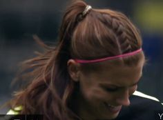 Fishtail in a pony tail! Great for soccer games and practices! Alex Morgan
