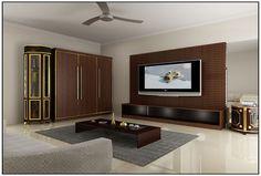 Vineetha View of TV Room by Mathewandsaira Cochin architect.