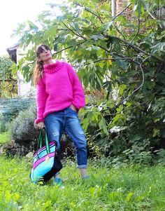 FUCHISA JUMPER   #knit #fashion #streetstyle #cool #easy #sporty #jumper #fuchsia #fuxia #romantic