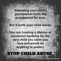 Your children deserve what you had...acess to all their family members despite your agenda! It is your issue not theirs!