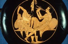 Athenian plate of a pederast and his slave boy 5th CT BC