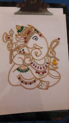Best 12 Grants ultimate blessings to her devotees like prosperity and condemning negativity – SkillOfKing. Ganesha Drawing, Ganesha Painting, Ganesha Art, Thali Decoration Ideas, Diwali Decorations, Acrylic Rangoli, Maggam Work Designs, Pottery Painting Designs, Beautiful Rangoli Designs