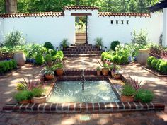 Courtyard of a Spanish-style home.