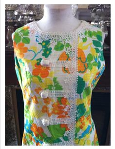 Vintage Lilly Pulitzer Resort 1960s Sweet Psychedelic Sleeveless Spring Summer Dream Mod Retro Floral Dress. $125.00, via Etsy.