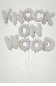 Knock on Wood. Awesome type poster.