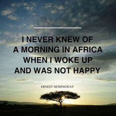 Plan your tailored safari holiday with THE specialist African travel company. Browse our tour ideas, then let us help you create your perfect African safari. Ernest Hemingway, Out Of Africa, East Africa, Travelers Notebook, Safari Holidays, Wildlife Safari, African Safari, Africa Travel, Travel Quotes