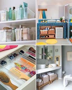 Organize cada cômodo ideias para organizar o banheiro - Casinha Arrumada Linen Closet Organization, Bathroom Organization, Personal Organizer, House Floor Plans, Clean House, Shelving, Sweet Home, Decoration, Home Decor