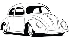 Beetle Coloring Vw Beetles Bug Volkswagen Pages