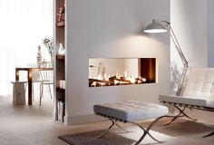 see through fireplaces | Frameless see-through Fire : Frameless see-through Fire