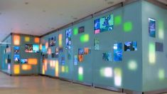 interactive history wall - recessed integrated touch screens
