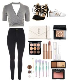 """""""Makeup and clothes ❤️"""" by styleme1234 ❤ liked on Polyvore featuring beauty, Topshop, Jane Norman, adidas, Yves Saint Laurent, Bobbi Brown Cosmetics, MAC Cosmetics, Charlotte Tilbury, tarte and Forever 21"""
