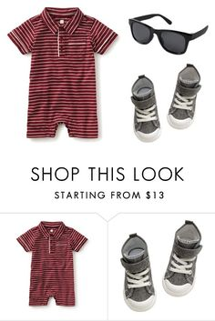 """Striped Polo Romper"" by babiesswardrobe ❤ liked on Polyvore featuring H&M, men's fashion and menswear"