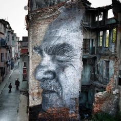 """Street Art by JR in Istanbul & after local police painted over it World Street, Wonder Art, Jr Art, French Street, Best Street Art, Art Mural, Murals, Street Art Graffiti, Land Art"