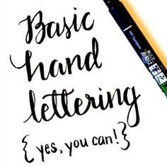 Believe it or not, you can learn to create beautiful hand lettered projects. All you need are a few basic supplies and this tutorial to make a masterpiece!