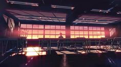 Anime 1920x1080 Makoto Shinkai  5 Centimeters Per Second classrooms desks sunlight sunset