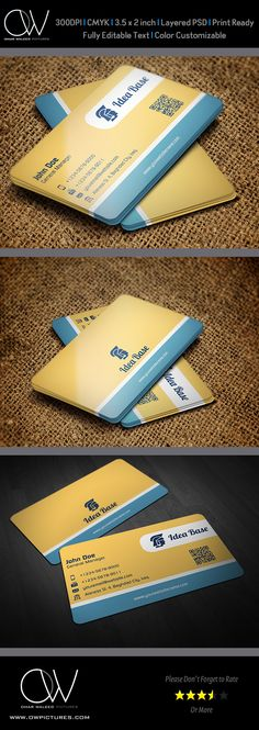 Corporate Business Card Template Vol.42 on Behance