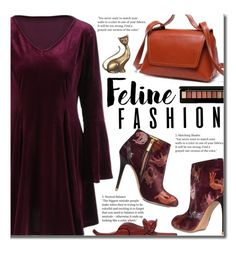 """""""Feline Fashion"""" by beebeely-look ❤ liked on Polyvore featuring Camilla Elphick, NOVICA, velvet, catstyle, falltrend, bellsleeves and twinkledeals"""