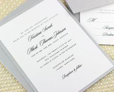 Simple Wedding Invitations Traditional by EdenWeddingStudio, $2.50