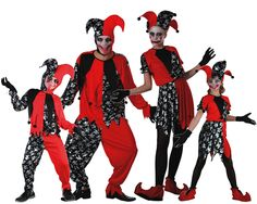 Familia de Bufones #disfraces #carnaval #disfracesparagrupos