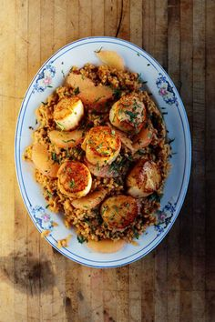 Risotto with Grapefruit and Seared Scallops Recipe   SAVEUR
