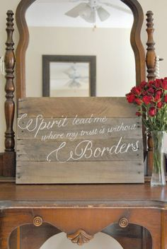 Spirit Lead Me Where my Trust is without by theheartsandcrafts, $50.00 Pallet Board Signs, Wood Signs, Diy Wooden Projects, Wooden Diy, Your Grace Is Enough, Kelsey Rose, Spirit Lead Me, Diy Ideas, Decor Ideas