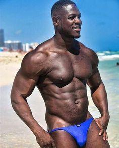 Scruffy Men, Hairy Men, Hot Black Guys, Black Men, Black Is Beautiful, Gorgeous Men, Boys Swimwear, Beefy Men, Hommes Sexy