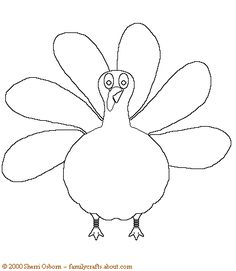 Free Coloring Pages For Thanksgiving Preschool