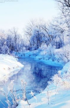 The Greenman, Cernunnos /Herne the Hunter... A Winter Scene... By Artist Unknown...