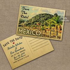 Mexico Wedding Invitation Printable Vintage Mexican Wedding Invites Retro Mexico Wedding Set Or Solo Vtw