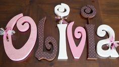 Hanging nursery letters nursery letters by BeautifulBabyofMine, $72.00